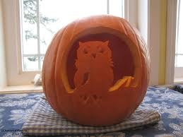 Owl Pumpkin Carving Pattern by Pumpkin Carving Contest Vermilion River Naturalist Society