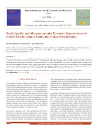 Dynamic Value Annual Financial Risk Bank Specific And Macroeconomics Dynamic Pdf Available