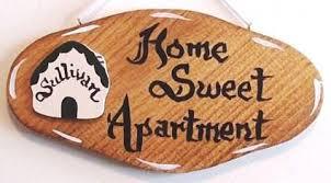 Home Sweet Apartment Wood Door Sign