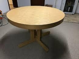 esszimmer tisch rund eiche hell ausziehbar bis 10 personen