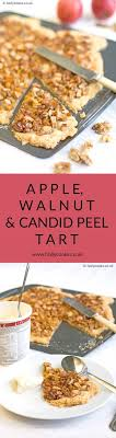Apple Walnut And Candid Peel Tart