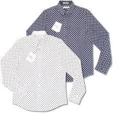 ben sherman large polka dot cotton button down pocket tag l s
