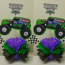 100 Monster Truck Party Decorations Grave Digger Birthday Centerpieces Gravedigger