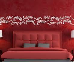 wandtattoo federn feder vogel blätter set selbstklebend bordüre ranke aufkleber banner wohnzimmer schlafzimmer 1u366 wandtattoos und leinwandbilder