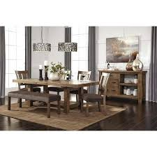 Ashley Furniture In Milwaukee Rustic Dining Room Table Signature Design By Gray Brown Rectangle On