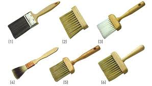 BRUSHES Dragging Brushes 1 Stipplers 2 Synthetic Softener 3 Badger Softeners 4 Hog 5 And Wall 6