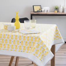 nappe en coton jaune 150 x 250 cm pinapple maisons du monde