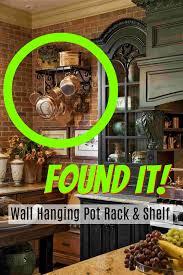 Best Wall Mounted Pot Rack with Shelf 2018