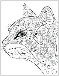 Cat Coloring Pictures Also Cats And Kitten Pages For Frame