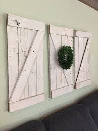 Farmhouse Style Rustic Wood Barn Door Wall Hanging