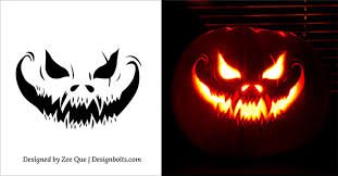 The Walking Dead Pumpkin Stencils Free by 10 Free Scary Halloween Pumpkin Carving Patterns Stencils