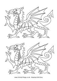 Use These Fabulous Welsh Dragon Templates For Colouring Cutting Or Other Crafty Reasons There Are Five Sizes Of In This Printable