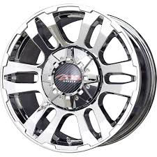 100 Discount Truck Wheels MB TKO Mesh Chrome Tire