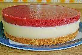 erdbeermus pudding torte