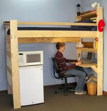 loft bed with desk ikea shutter window ladder combined drawers