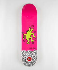 Cheap Skate Mental Decks by Keith Haring Alien Workshop Skate Decks Pink Yellow