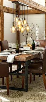 Rustic Dining Lighting Industrial Fixture More Farmhouse Room