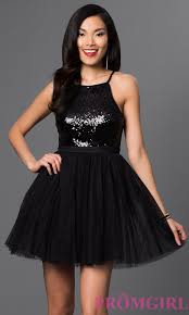sequined bodice babydoll party dress promgirl