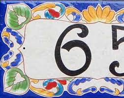 vertical house number plaque house numbers vertical ceramic