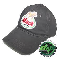 100 Mack Truck Hat S Charcoal Classic Retro Ball Cap Hat Truck Semi Trucker