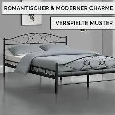 metallbett toskana 140 x 200 cm schwarz komplett set mit matratze bett mit lattenrost modern