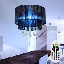 etc shop led pendelleuchte hängeleuchten esszimmerleuchten kristall pendelle wohnzimmer len decke hängend garn fernbedienung farbwechsel