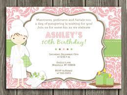 Printable Spa Birthday Invitation