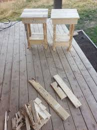 DIY Make End Tables From Pallets