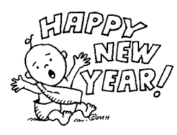 Happy New Year Coloring Pages Printable Clipart