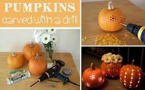 Pumpkin Carving Drill by Carve Up Your Pumpkins With A Drill Diy Cozy Home
