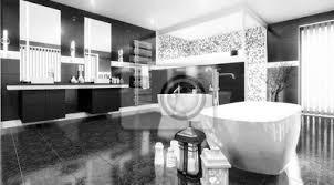 fototapete luxuriöses badezimmer schwarz weiß