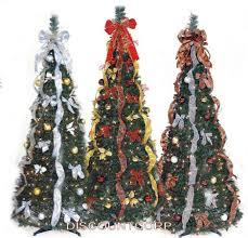 Slim Pre Lit Christmas Trees 7ft by Pre Decorated Christmas Tree Ebay