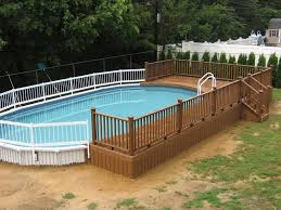 Pool Above Ground Deck Plans Pallet Free