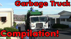 100 Garbage Truck Youtube Side Loader Compilation YouTube