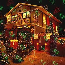 Outdoor Christmas Laser Lights Projector Motion Snowflake Jingling Bell Xmas Tree Santa Claus