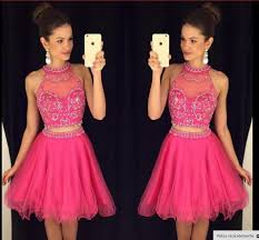 charming 2 pieces homecoming dresse pink sweet 16 sweet 16