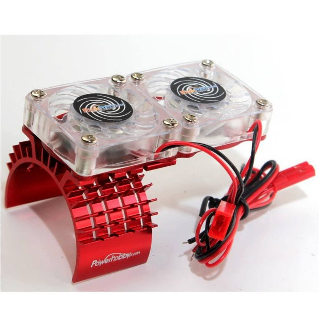 Power Hobby - Aluminum Cooling Fan Slash 4WD Red - FSRED