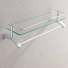 glas wandregal badezimmer regal raum aluminium badezimmer