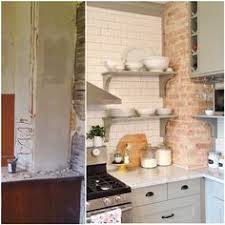 I Came Across The Left Pic On An Old Phone Last Night And Wanted To Share Im So Glad We Decided Painstakingly Expose Brick This Chimney