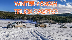 Winter Truck Camping - Tacoma Gear, Snow, Overlanding, Car Camping ...