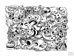 Crazy Tree Doodle Arts Culture Art Coloring Pages For Kids