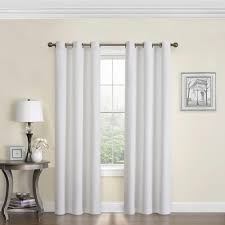 Eclipse Thermalayer Curtains Grommet by Eclipse Blackout Microfiber 84 In L White Grommet Curtain