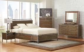 Coaster Arcadia Platform Panel Storage Bedroom Set Weathered