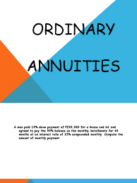 Sinking Fund Annuity Calculator by Ordinary Present Value Interest