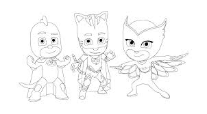 PJ Masks From Coloring Top
