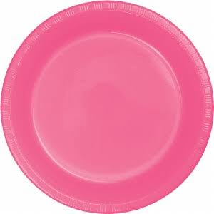 Creative Converting Touch of Color Plastic Banquet Plates - Candy Pink, 20ct
