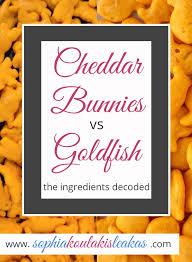 Cheddar Bunnies Vs Goldfish