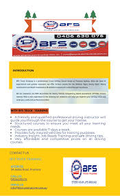 100 Truck Licence Browse BFS Training For HR HC MC MR