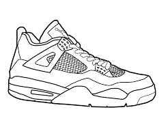 Download Coloring Pages Shoes Basketball Fun Color Page