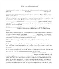 Best Business Asset Purchace Contract Form Example